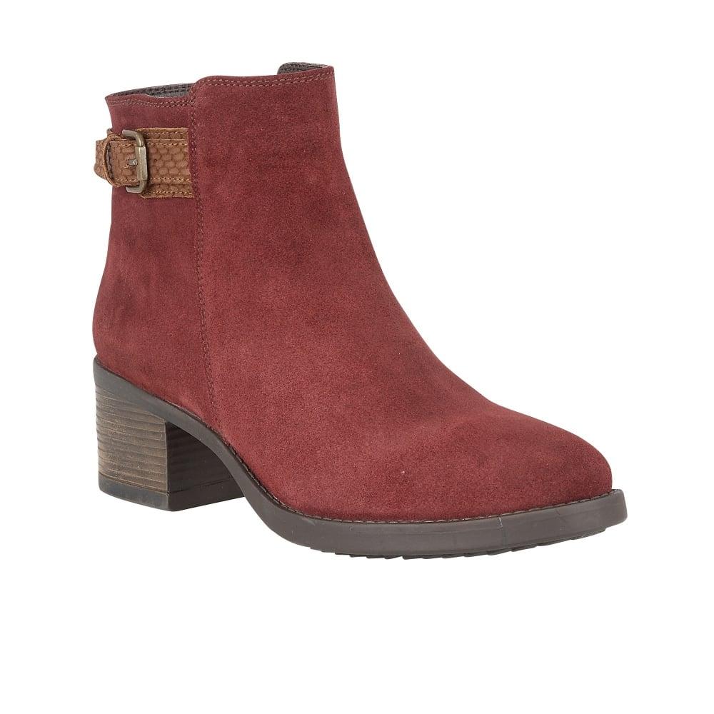 bordeaux suede alder ankle boots lotus boots from lotus shoes uk. Black Bedroom Furniture Sets. Home Design Ideas