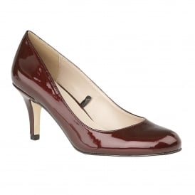 Bordo Altar Metallic Patent Court Shoes