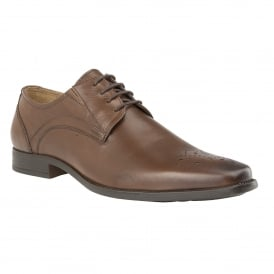 Brown Birkdale Leather Lace-Up Shoes | Lotus