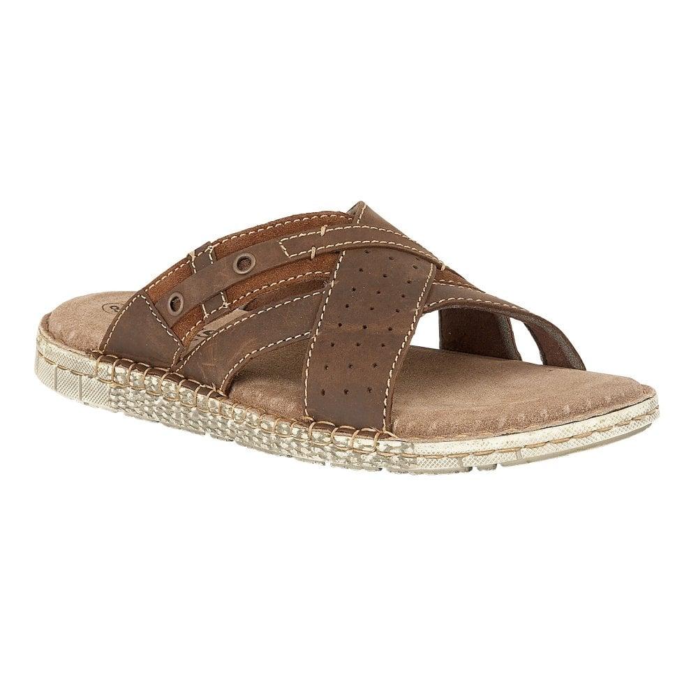 7311c86d2d74 Buy the brown Lotus men s Claude leather mule sandal online