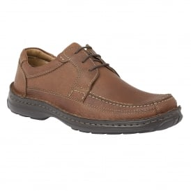 Brown Coleman Grain Leather Lace-Up Shoes | Lotus