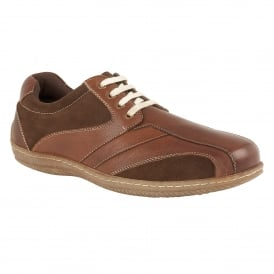 Brown Corrigan Leather Lace-Up Shoes | Lotus
