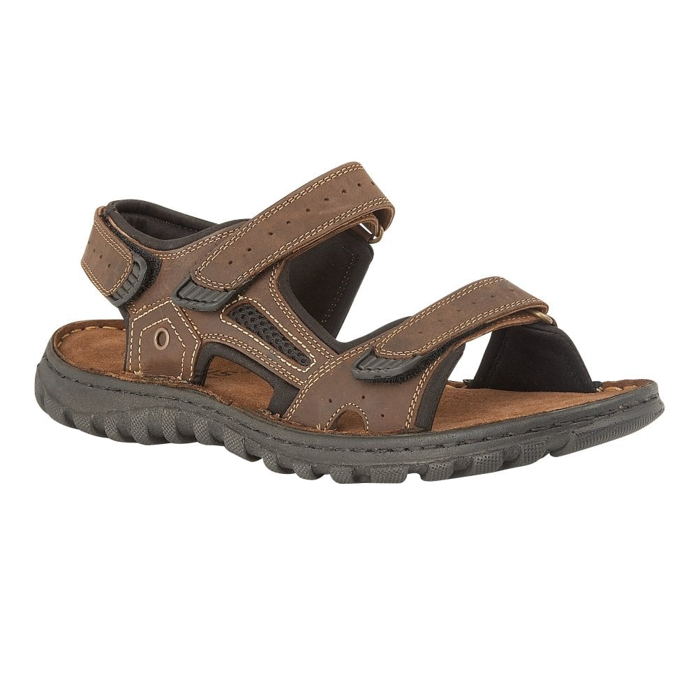 fcbd1aca4c8d Buy the brown Lotus men s Douglas leather raft sandal online