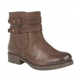 Brown Heckle Leather Ankle Boots