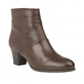 Brown Metcalf Leather Ankle Boots | Lotus