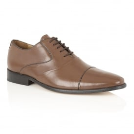 Brown Murray Leather Lace-Up Shoes | Rombah Wallace