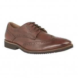 Brown Newing Leather Brogues | Lotus