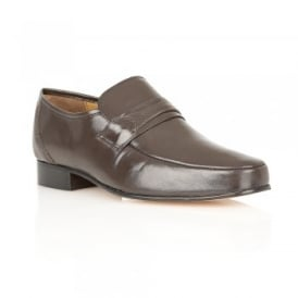 Brown Regent Leather Loafers | Rombah Wallace