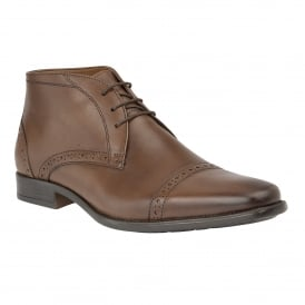 Brown Rickard Leather Lace-Up Boots | Lotus