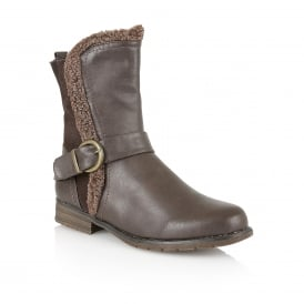 Brown Rink Ankle Boots