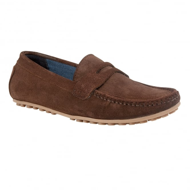 Brown Suede McKinley Loafers | Lotus