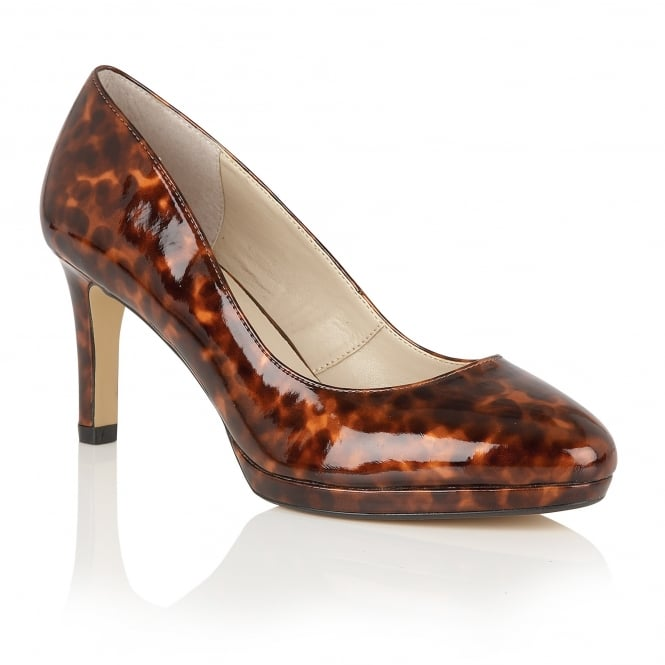 Brown Tortoiseshell Printed Calla Court Shoes