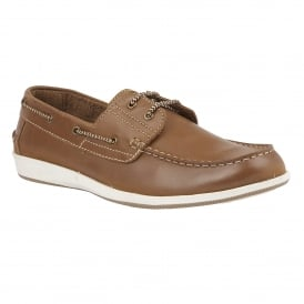 Chestnut Lawson Leather Boat Shoes | Lotus