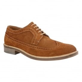 Cognac Suede Wentworth Lace-Up Brogues | Lotus