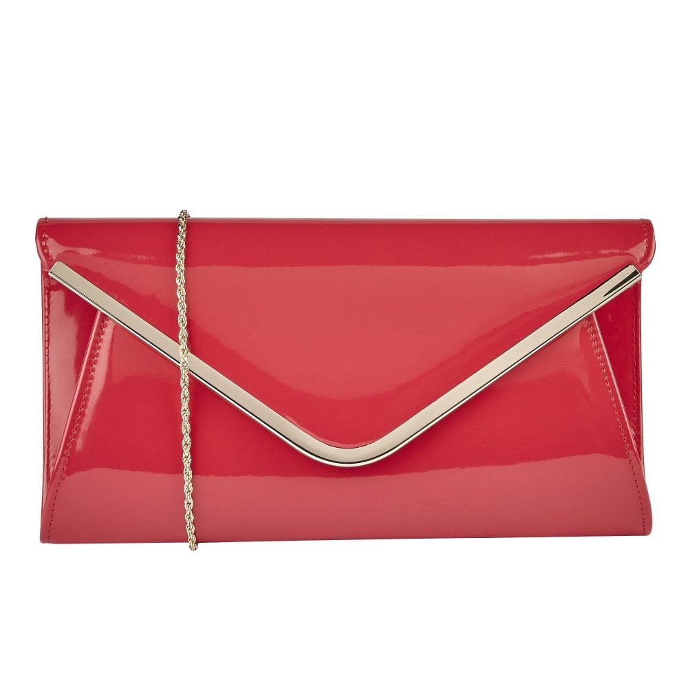 8447fb97e4 Buy the coral patent Lotus Sommerton clutch bag online