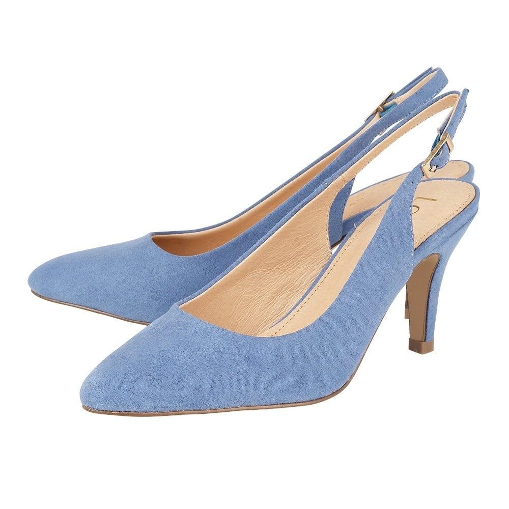 8b61649ba1 Buy the blue microfibre Lotus women's Lizzie court shoe online