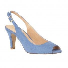 95d238efa6f Cornflower Blue Microfibre Zaria Sling-back Shoes