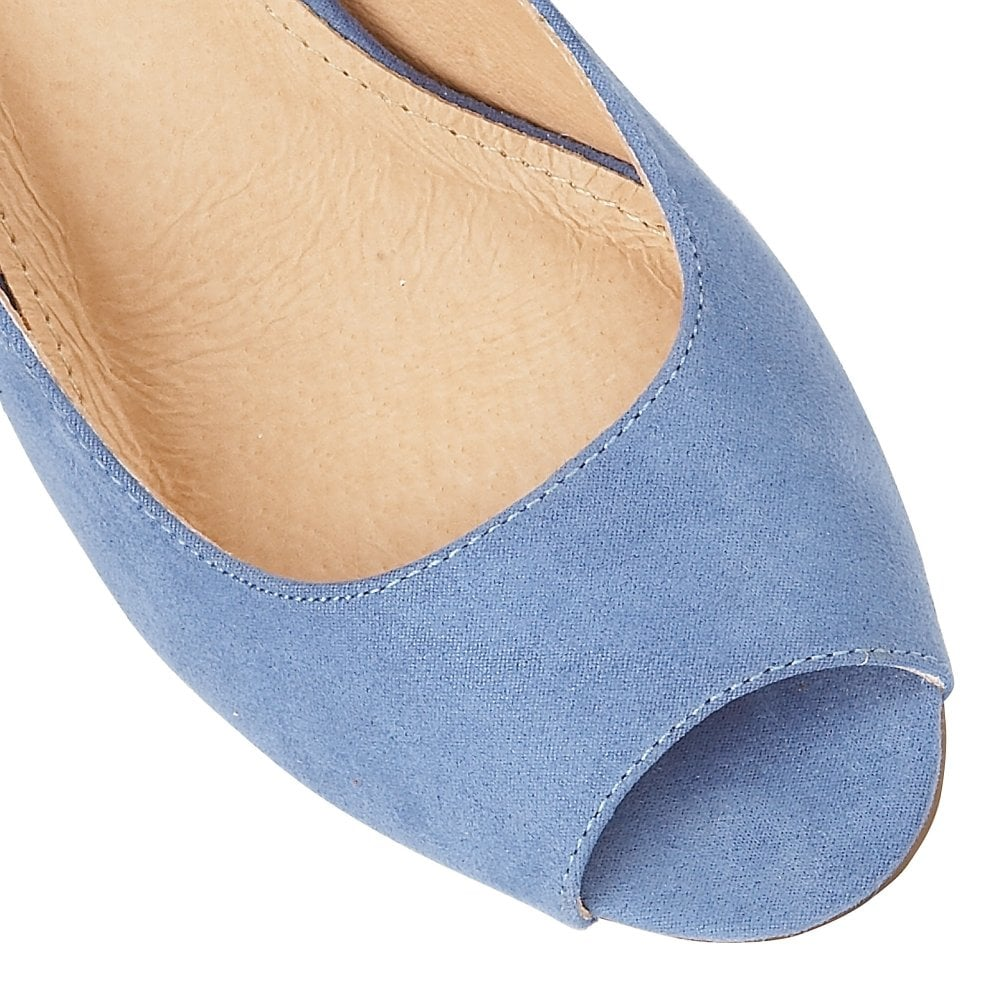 6fa8633f75 Buy the blue microfibre Lotus ladies' Zaria court shoe online