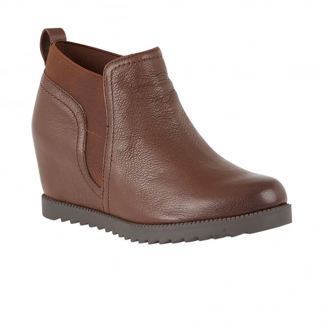 Darena Brown Leather Ankle Boots | Naturalizer