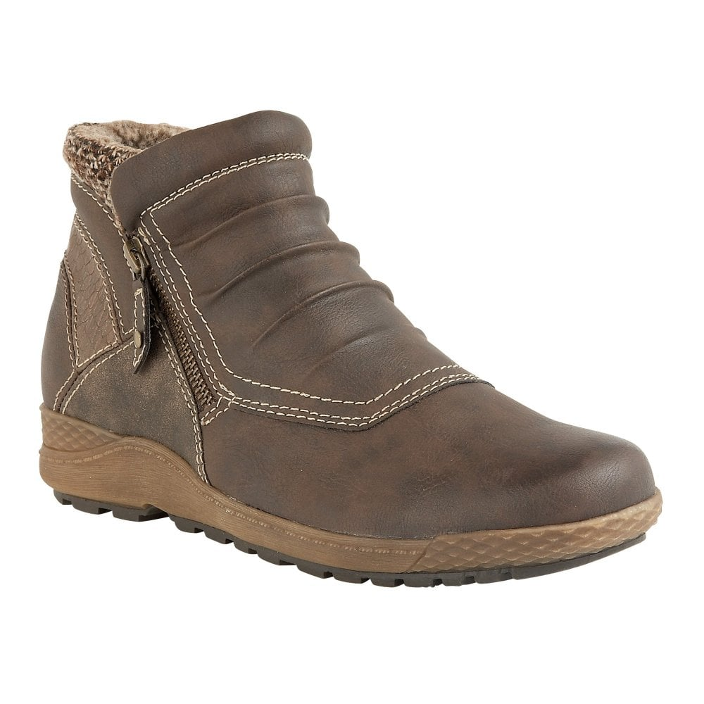 2319d62b81090b Buy the Lotus Relife ladies  Holt ankle boot in brown online
