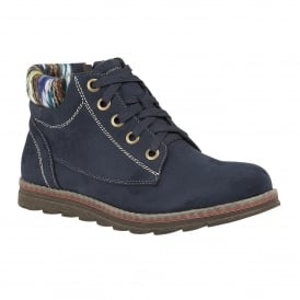 Dark Navy Sequoia Microfibre Ankle Boots