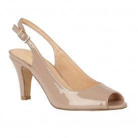 c5039166f3d Dark Nude Patent Zaria Sling-back Shoes