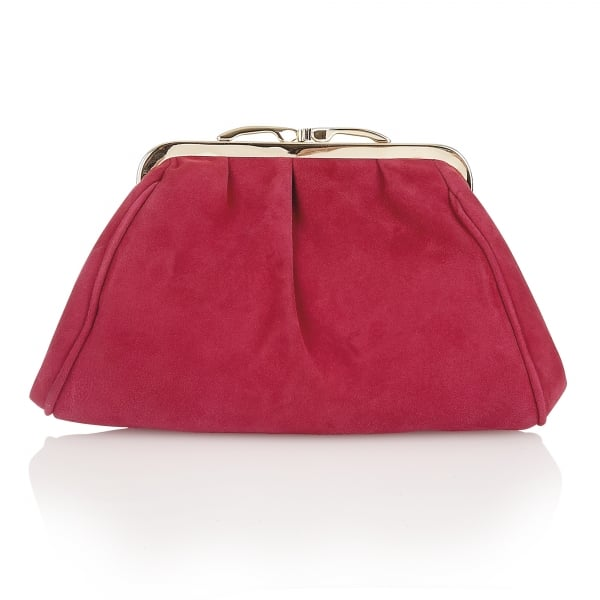 Fuchsia Halle Suede Clutch Bag Lotus Bags From Lotus