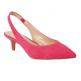 Fuchsia Microfibre Misty Sling-Back Shoes | Lotus