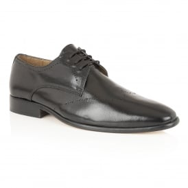 Gavin Black Leather Lace-Up Shoes | Rombah Wallace