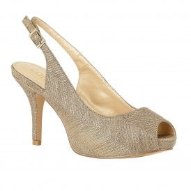 ab2bc0a5dd3 Gold Adora Sling-back Shoes