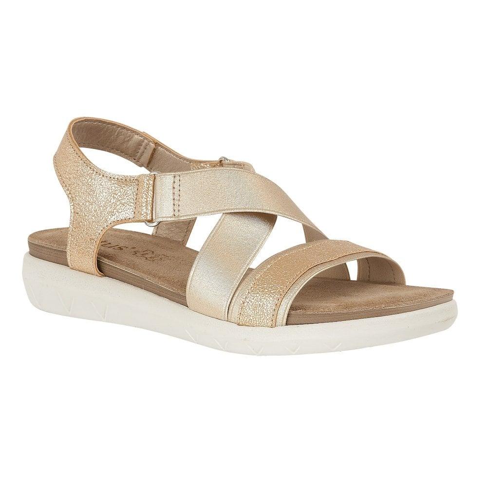 0d6ec333ce Buy the gold Lotus ladies' Fallon sandal online