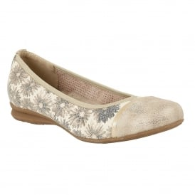 Gold Florated Kuma Ballerina Shoes | Lotus Relife