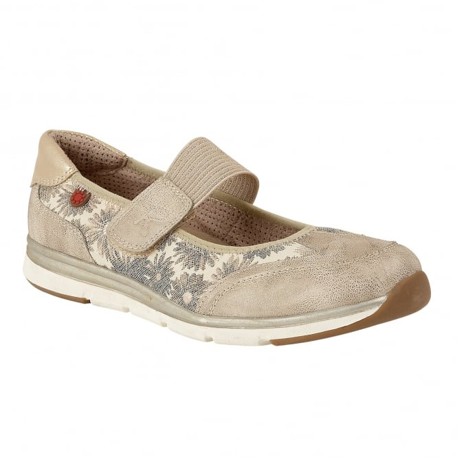 Gold Florated Natos Velcro Trainers | Lotus Relife