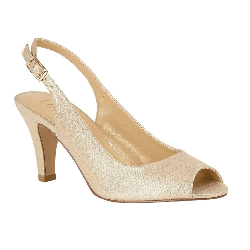 Buy the gold metallic Lotus ladies  Larissa peep toe shoe online cb7231c97e90