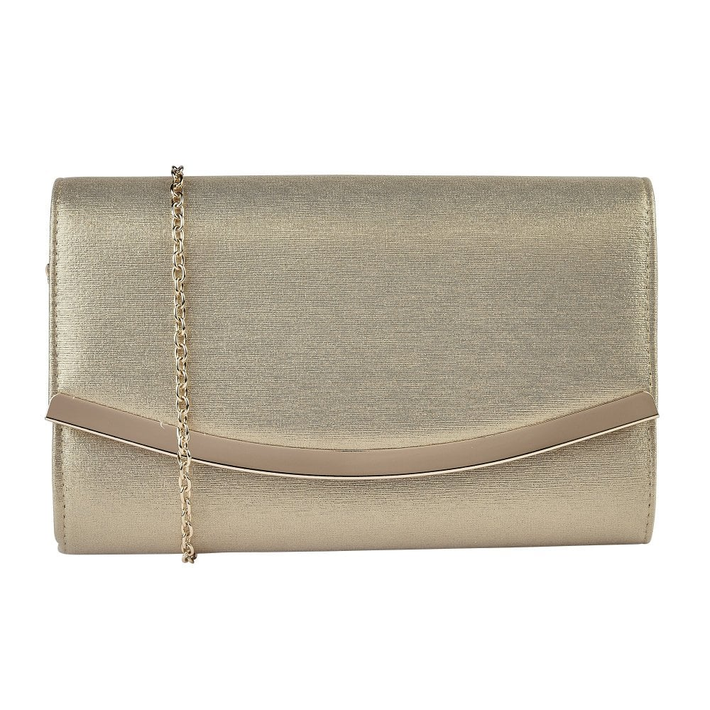 attractive colour quite nice customers first Gold Metallic Vanessa Clutch Bag | Lotus