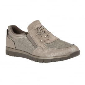 Grey Azara Slip-On Trainers | Lotus Relife