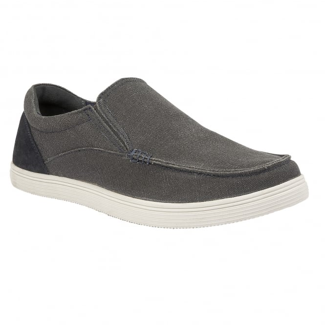 Grey Crossley Canvas Shoes | Lotus