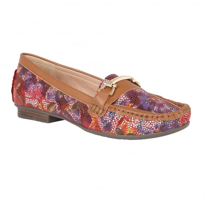 Lotus Albena Multi Floral Leather Loafers