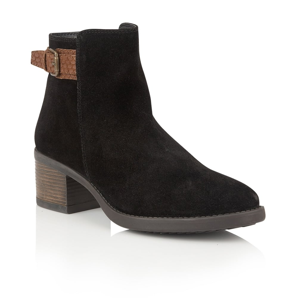 lotus alder black suede ankle boots boots from lotus