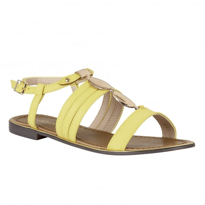Lotus Alpine Yellow-Matt Open-Toe Sandals