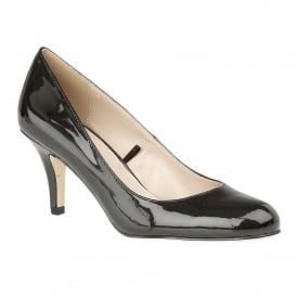 Altar Black Shiny Court Shoes