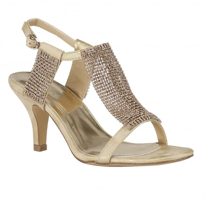 Lotus Aspey Gold & Chainmail Open-Toe Sandals