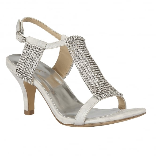 Lotus Aspey Silver & Chainmail Open-Toe Sandals