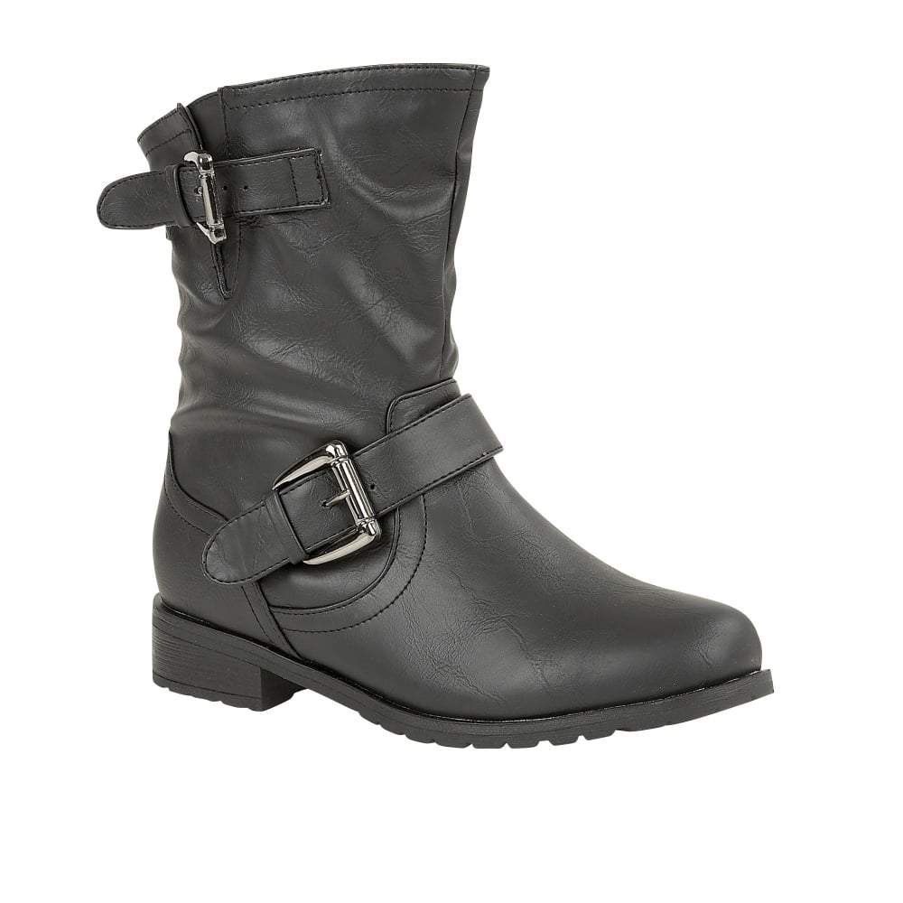 lotus barberry black matt toe ankle boots boots