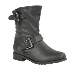 Barberry Black Matt Round-Toe Ankle Boots