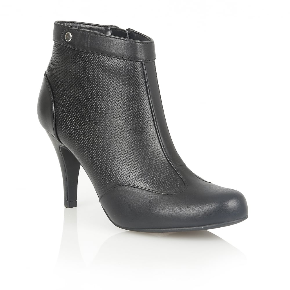 lotus best black leather heeled ankle boots boots from