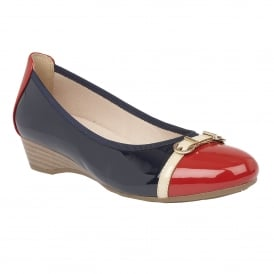 Bisera Navy-Multi Shiny Casual Shoes