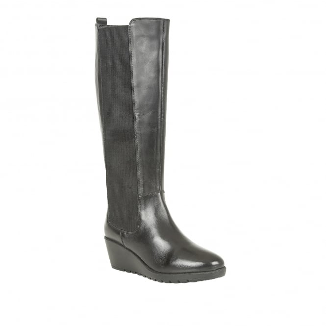 Lotus Bridger Black Leather Knee-High Boots