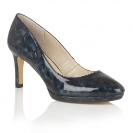 Calla Navy Tortoiseshell Court Shoes