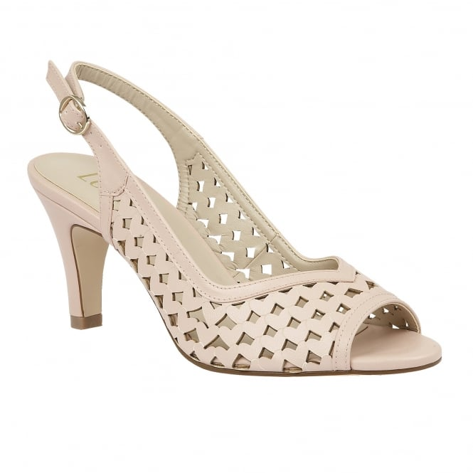 Lotus Canaan Pastel Pink Sling-back Court Shoes